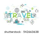 modern infographic banner with... | Shutterstock .eps vector #542663638