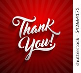 thank you beautiful lettering... | Shutterstock .eps vector #542664172