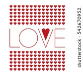 vector illustration of love... | Shutterstock .eps vector #542670952