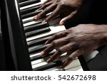 afro american man hands playing ... | Shutterstock . vector #542672698