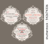 vintage card for invitation and ... | Shutterstock .eps vector #542674336