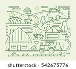 farm   vector modern simple... | Shutterstock .eps vector #542675776