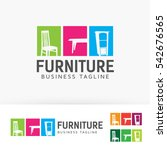 furniture logo design.... | Shutterstock .eps vector #542676565