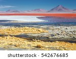 red lagoon  red lake  there are ... | Shutterstock . vector #542676685