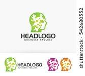 head  digital  human  people ... | Shutterstock .eps vector #542680552