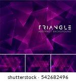 triangular abstract background. ... | Shutterstock .eps vector #542682496