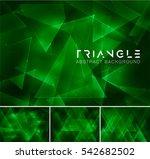 triangular abstract background. ... | Shutterstock .eps vector #542682502