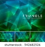 triangular abstract background. ... | Shutterstock .eps vector #542682526