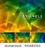 triangular abstract background. ... | Shutterstock .eps vector #542682532
