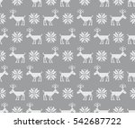 Seamless Pattern With Deers....