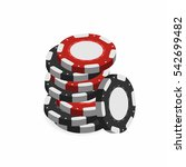 casino chips in stack isolated...