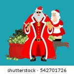 cool rich santa and girl. red... | Shutterstock .eps vector #542701726