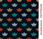 seamless pattern with dense... | Shutterstock .eps vector #542703136