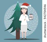 vector cartoon illustration of... | Shutterstock .eps vector #542704546