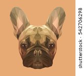 french bulldog animal low poly... | Shutterstock .eps vector #542706298