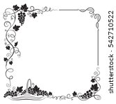 decorative black frame formed... | Shutterstock .eps vector #542710522