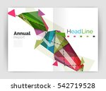 triangles and lines  annual... | Shutterstock . vector #542719528