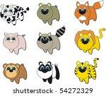 animals set cartoon in vector...