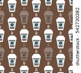 coffee seamless pattern  vector ... | Shutterstock .eps vector #542730382