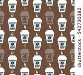 coffee seamless pattern  vector ... | Shutterstock .eps vector #542730382