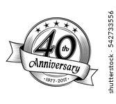 40th anniversary design... | Shutterstock .eps vector #542733556