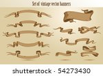 set of vector vintage stroked... | Shutterstock .eps vector #54273430
