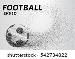a soccer ball of particles. a... | Shutterstock .eps vector #542734822