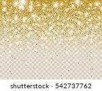 falling dark gold glitter... | Shutterstock .eps vector #542737762