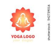 Yoga Logo Template  Outline Of...