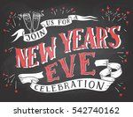join us for a new year's eve... | Shutterstock .eps vector #542740162