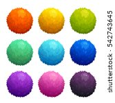 colorful cartoon furry balls....