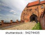 Water gate in Grudziadz - Poland - stock photo