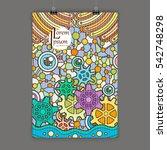 stylish presentation of wall... | Shutterstock .eps vector #542748298