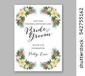 anemone wedding invitation... | Shutterstock .eps vector #542755162