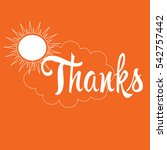 thanks. | Shutterstock .eps vector #542757442