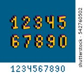 digits  numerals created in 8... | Shutterstock . vector #542760502