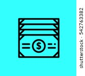 cash icon. isolated vector sign ...