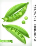 pea pod. vegetable 3d vector... | Shutterstock .eps vector #542767882