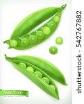 pea pod. vegetable 3d vector... | Shutterstock .eps vector #542767882