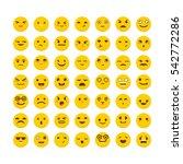 set of emoticons. cute emoji... | Shutterstock .eps vector #542772286