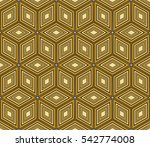 seamless pattern based on the... | Shutterstock . vector #542774008