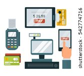 payments symbols vector... | Shutterstock .eps vector #542774716