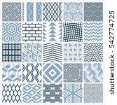 graphic ornamental tiles... | Shutterstock . vector #542774725