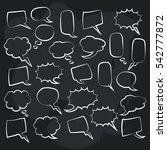 cute set of blank bubble speech ...   Shutterstock .eps vector #542777872