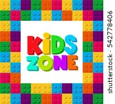 kids zone banner design.... | Shutterstock .eps vector #542778406