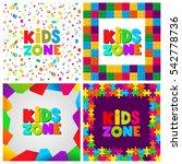 kids zone banner design set.... | Shutterstock .eps vector #542778736