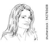 hand drawn portrait of white... | Shutterstock . vector #542783608