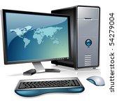 computer | Shutterstock .eps vector #54279004