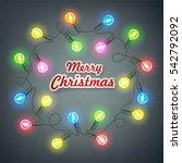 garlands  christmas decorations ...   Shutterstock .eps vector #542792092