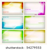 gift card template | Shutterstock .eps vector #54279553